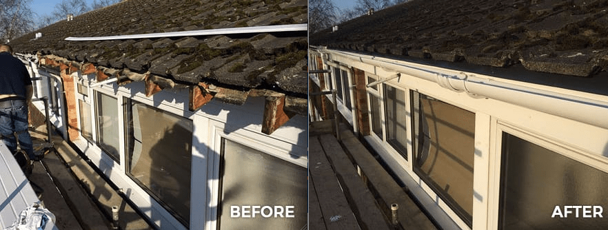 Before and After Guttering Repairs in Dublin