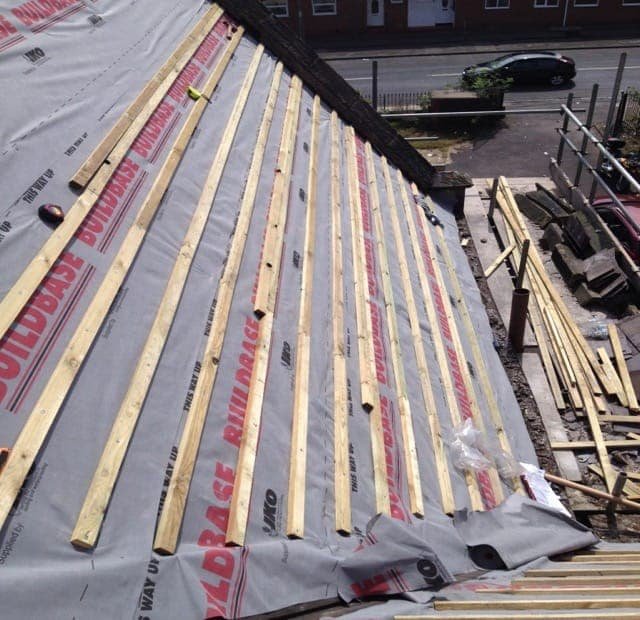 Latting and felting Roofs in S Dublin