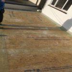 fibreglass during fibreglass roof inastallation