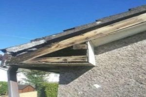 Before Rotted pvc Fascia and soffit Dublin